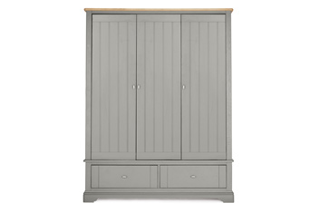 hampton triple robe - White Wardrobe