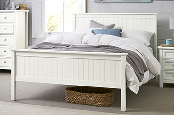 Harbour White Bed