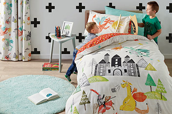 Knights And Dragons Bed Set