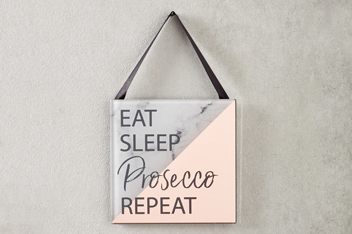Marble Effect Prosecco Hanging Decoration