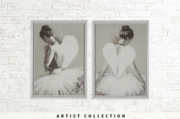 Set of 2 Artist Collection Angels Frames