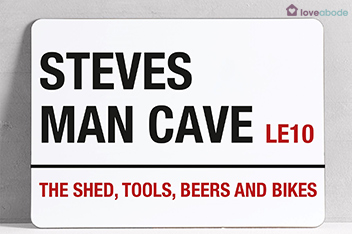 Personalised Man Cave A4 Wall Art By Loveabode