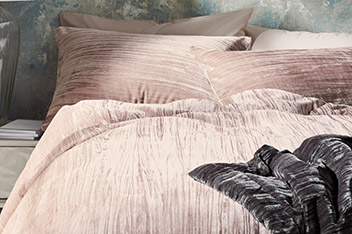 Crinkle Velvet Bed Set