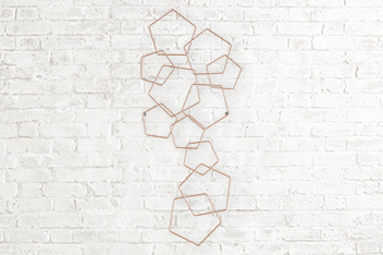 Rose Gold Geometric Plaque