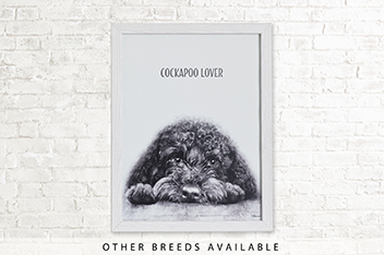 Dog Breed by Jane Bannon Framed Print