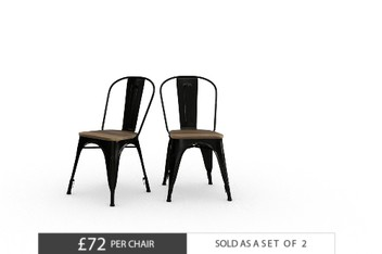 Set Of 2 Jaxon Black Dining Chairs