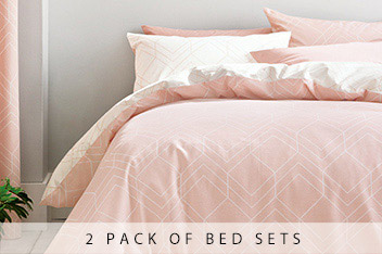 2 Pack Geo Lines Bed Set