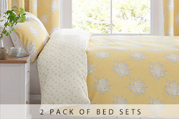 2 Pack Nostalgia Floral Bed Set