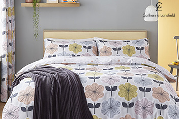 Catherine Lansfield Retro Floral Bed Set