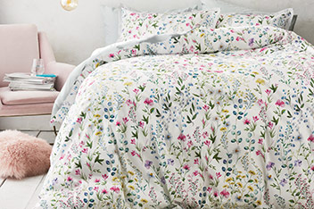 Cotton Sateen Garden Trail Digital Bed Set