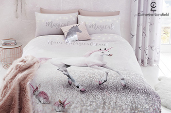 Catherine Lansfield Enchanted Unicorn Bed Set