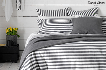 Secret Linen Store Coastal Stripe Duvet Cover