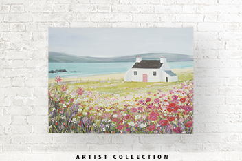 Artist Collection Summer Berry Landscape by Janet Bell Canvas