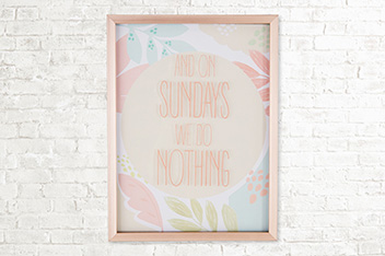Rose Gold Layered Text Frame