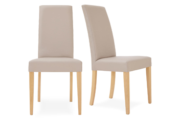Set Of 2 Mayfair Faux Leather Dining Chairs