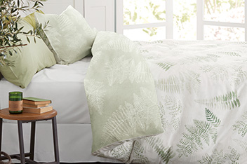 Cotton Sateen Fern Digital Bed Set