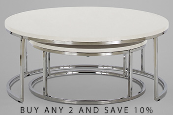 Set Of 2 Mode Coffee Nest Of Tables