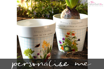 Personalised RHS Planter Set by Signature PG