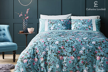 Catherine Lansfield Botanical Floral Bed Set
