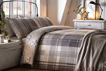 Fusion Brushed Cotton Colville Check Bed Set