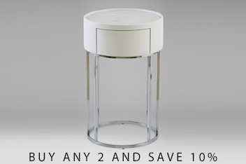 Sloane Marble Bedside Table