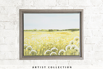 Delightful Artist Collection Meadow By Janet Bell Medium Frame
