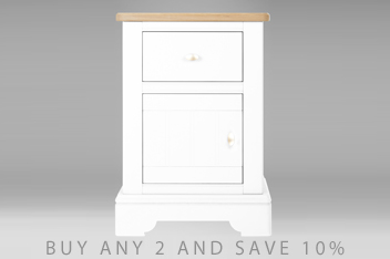 Hampton Storage Bedside Table
