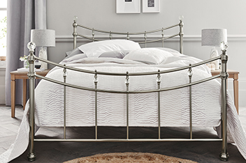 Asher Nickel Bedstead