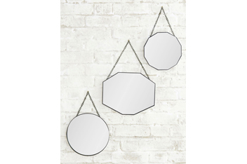 Set of 3 Vintage Hanging Mirrors by Gallery