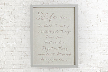 Life Is Embroidered Frame