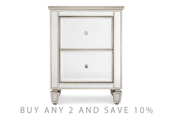 next mirrored furniture. Fleur Bedside Table Next Mirrored Furniture E