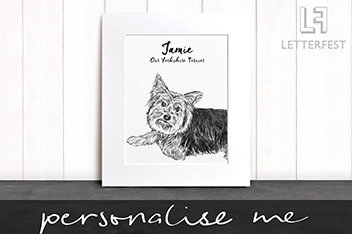 Personalised Pet Dog Print by Letterfest