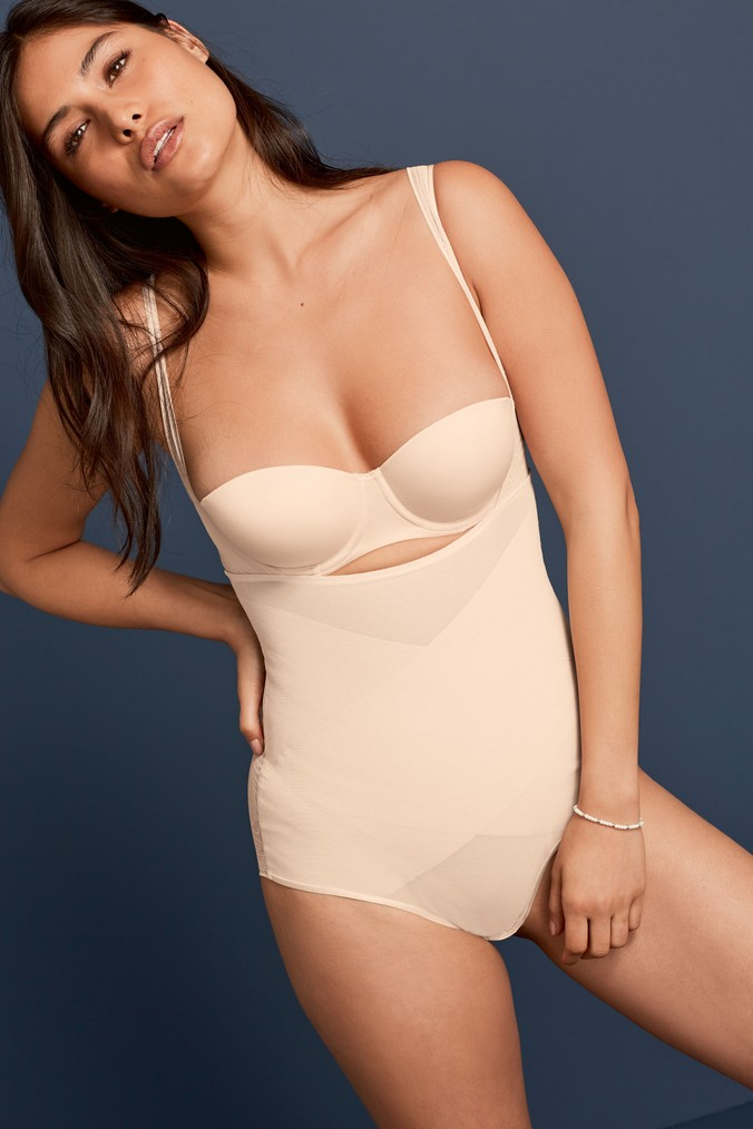 Womens Next Nude Firm Control Wear Your Own Bra Shaping Body -  Nude