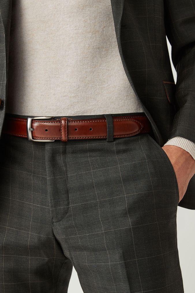 39fc47943947 Mens Next Brown Signature Italian Leather Belt - Brown