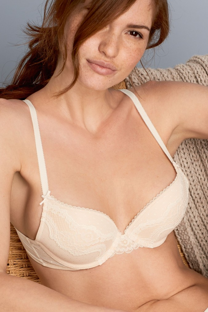 e6cd7838158c8 Womens Next Nude Cara Push-Up Plunge Bra - Nude - Next at Westquay - Shop  Online