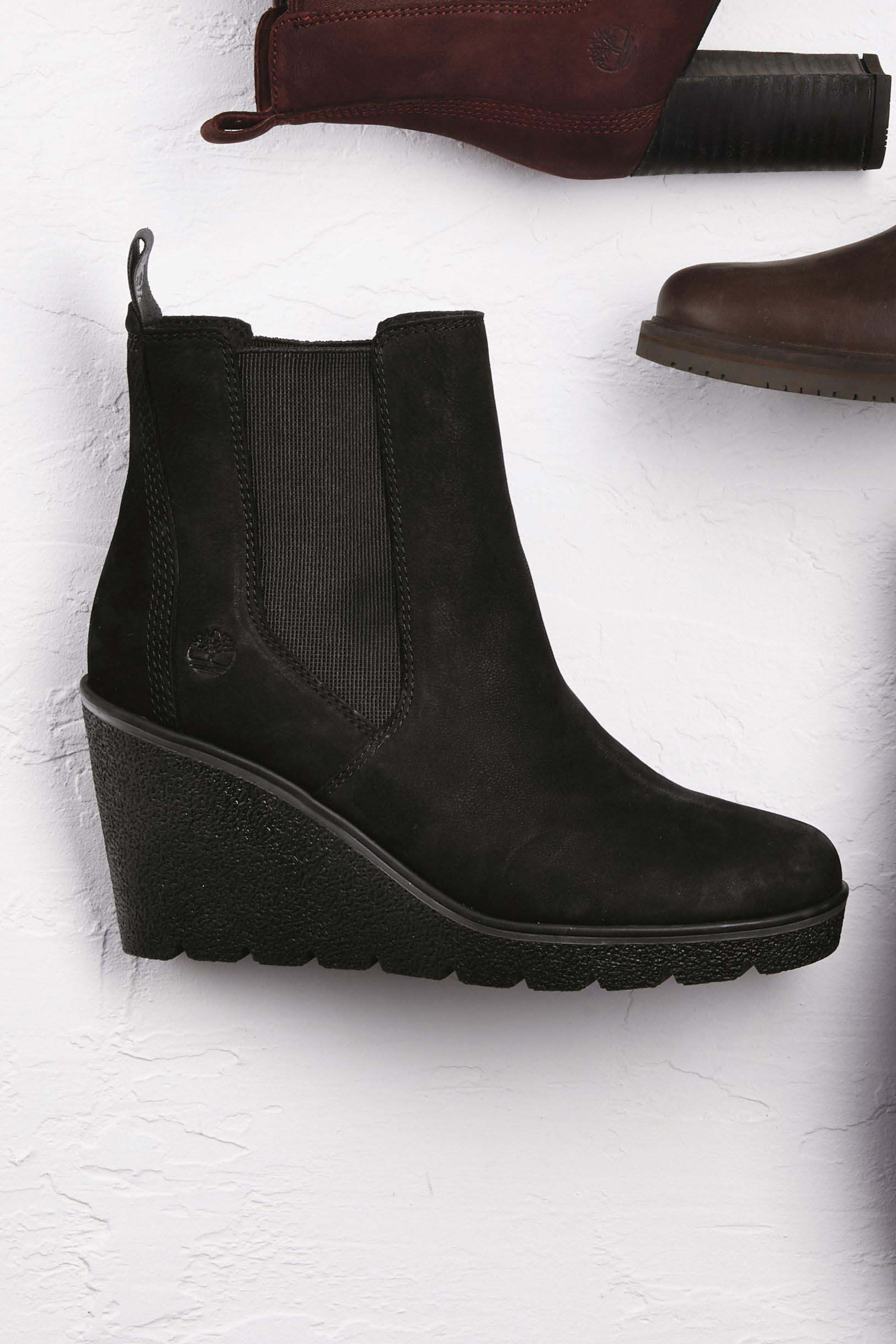 Womens Timberland Black Paris Height Chelsea Wedge Boot - Black - Next at  Westquay - Shop Online a00f9730fe