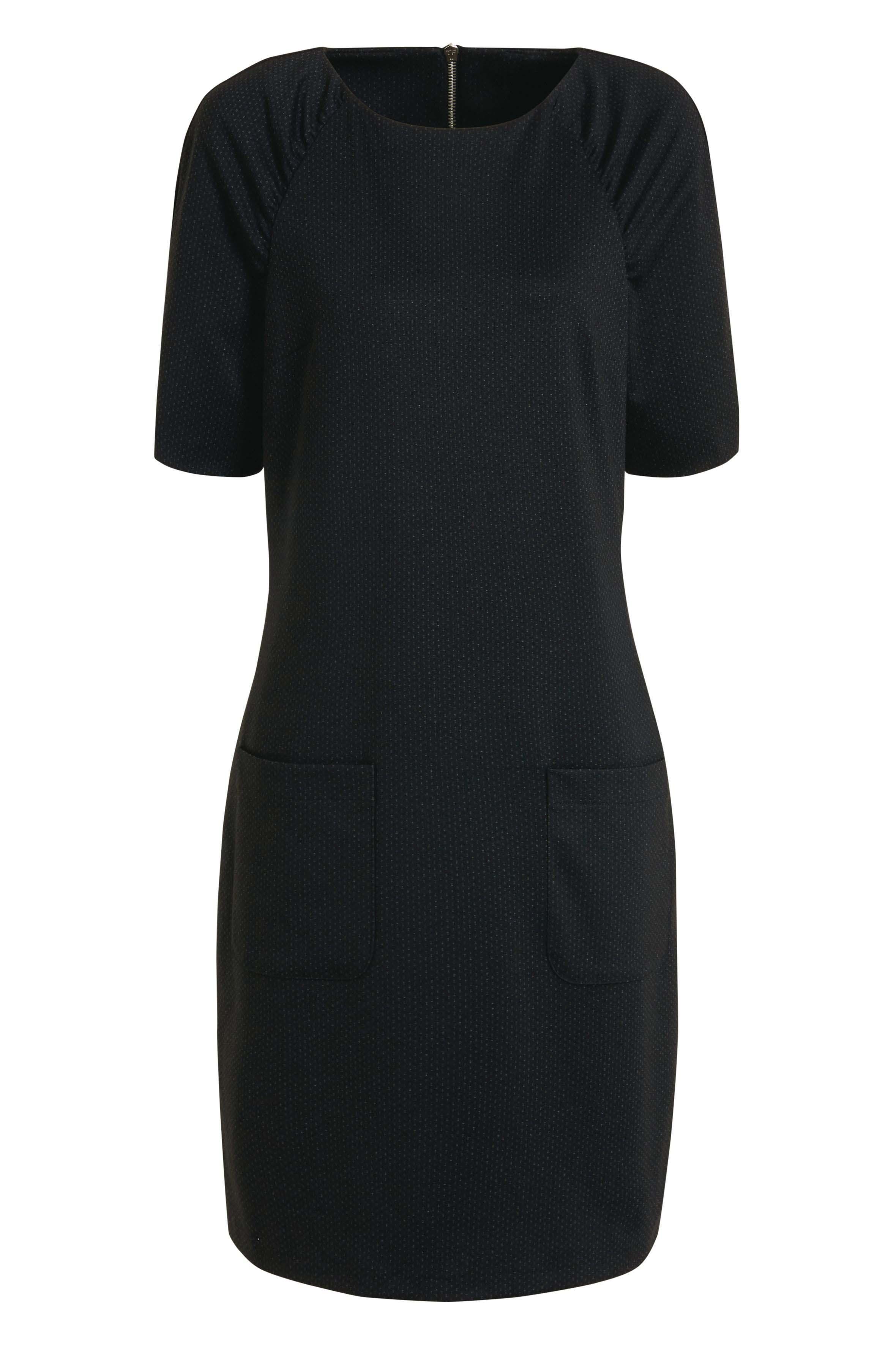 Womens Next Black/Grey Ponte Shift Dress -  Black