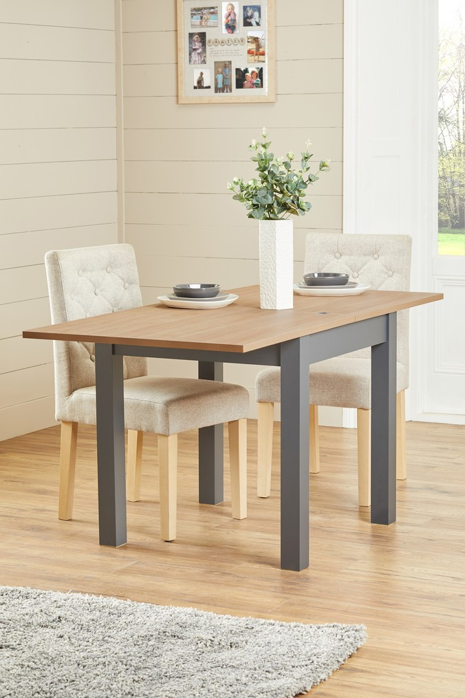 b44c61cf690 Next Malvern 4-6 Seater Square To Rectangle Dining Table - Grey ...