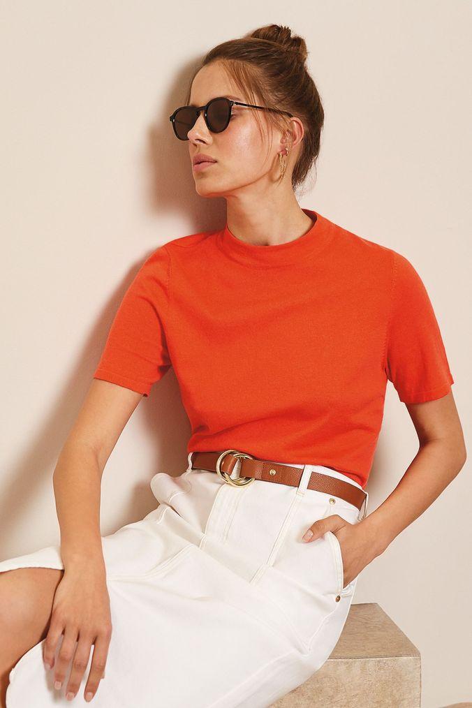 Womens Mint Velvet Off White Denim Pencil Skirt -  White