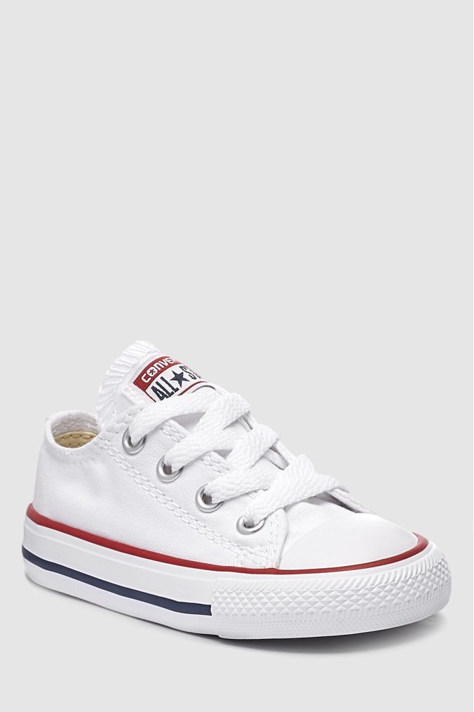 Girls Converse Infant Little Kids Chuck Taylor All Star Lo - White ... 7afb3beae