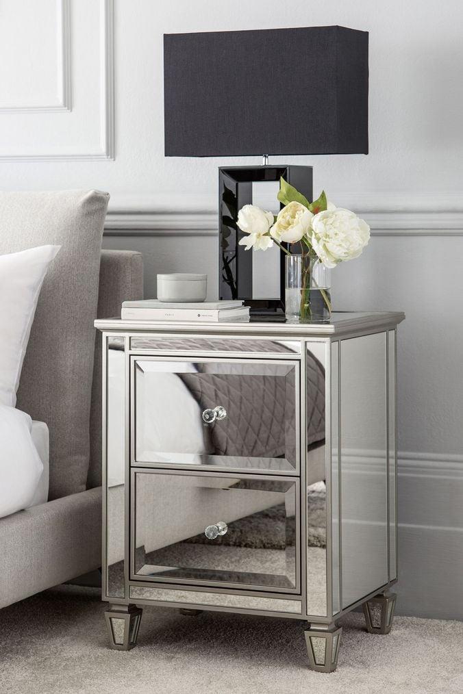 Next mirrored furniture Bedroom Next Fleur Bedside Table Silver Trinity Leeds Next Fleur Bedside Table Silver 22500 Trinity Leeds