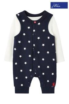 Niebieski zestaw niemowlęcy bez rękawów Joules Saylor