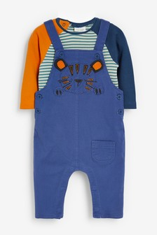 Tiger Dungarees and Bodysuit Set (0mths-2yrs)