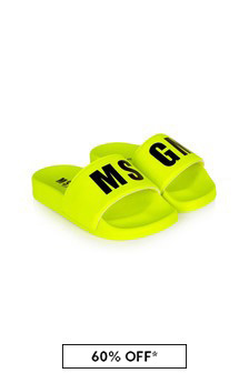 MSGM Unisex Yellow Sliders