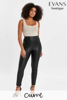 Evans Curve Faux Leather Treggings