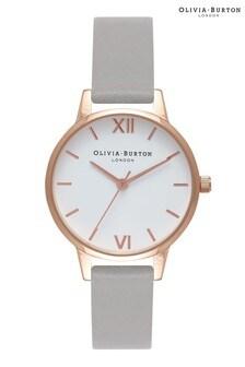Olivia Burton White Dial Grey & Rose Gold Watch