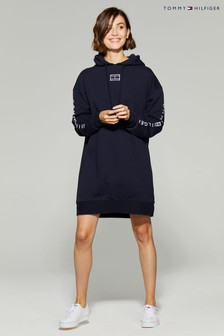 Tommy Hilfiger Blue Paloma Flag Hoody Dress