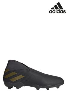 adidas Black Nemeziz P3 Laceless Firm Ground Football Boots