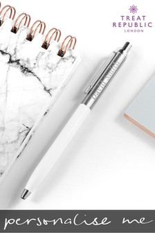 Personalised Engraved Classic Script Pen by Treat Republic
