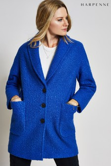 Harpenne Blue Textured Coat